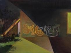 Durchgang, Öl auf Leinwand, 30 x 40 cm, 2014