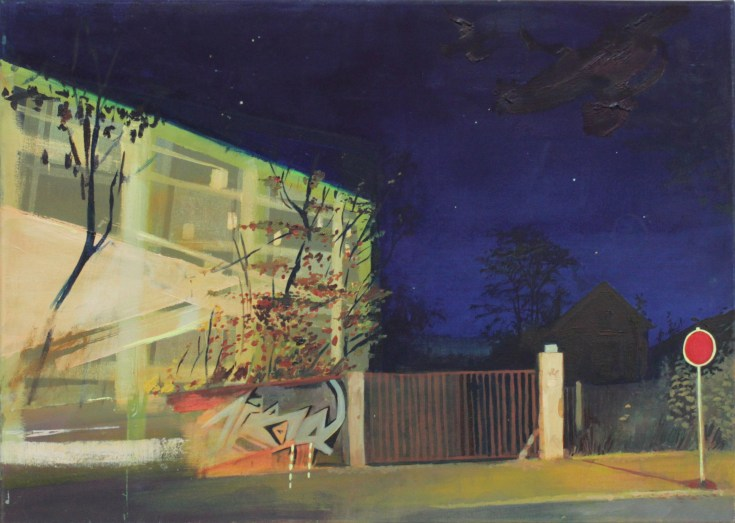 Stop, Öl auf Leinwand, 50 x 70cm, 2014